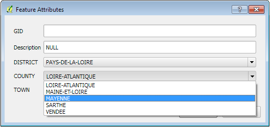 How to build cascading form controls in QGis 2 4